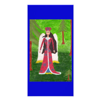 Siberian Angel Customized Photo Card