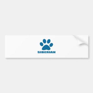 SIBERIAN CAT DESIGNS BUMPER STICKER
