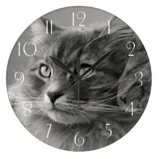Siberian Cat Large Clock