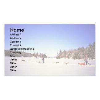 Siberian Huskies Business Card Template