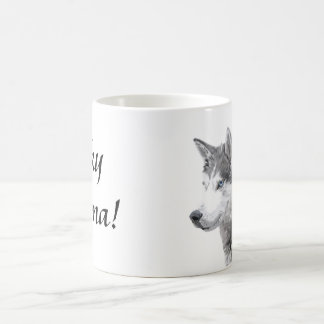 Siberian Huskies Dog , Husky Momma Coffee Mug