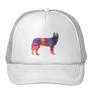 Siberian Husky 01 in watercolor Cap