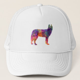 Siberian Husky 01 in watercolor Trucker Hat