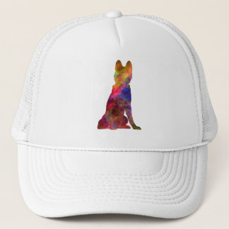 Siberian Husky 02 in watercolor Trucker Hat