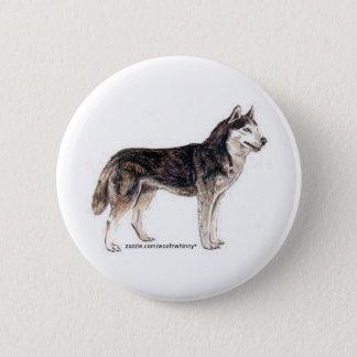 Siberian Husky! 6 Cm Round Badge