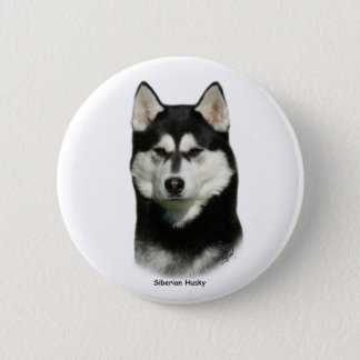 Siberian Husky 6 Cm Round Badge