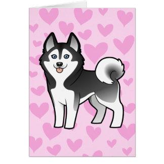 Siberian Husky / Alaskan Malamute Love Card