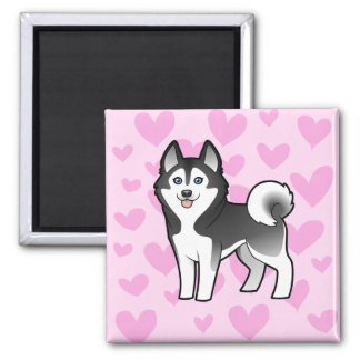 Siberian Husky / Alaskan Malamute Love Refrigerator Magnet