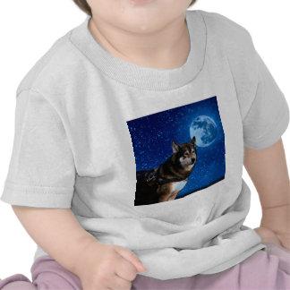 Siberian husky and the Blue Moon T-shirts
