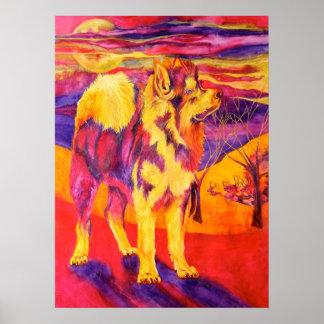 Siberian Husky Animal Lovers Canvas Print
