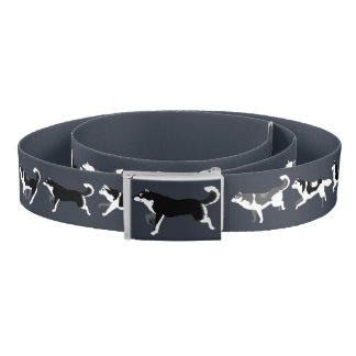 Siberian Husky Belt Stylish Alaskan Malamute Belts