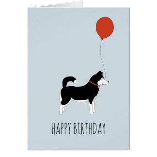 Siberian Husky Birthday Card