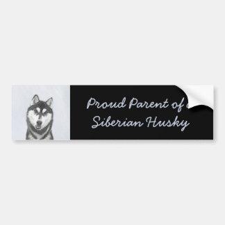 Siberian Husky (Black and White) Bumper Sticker