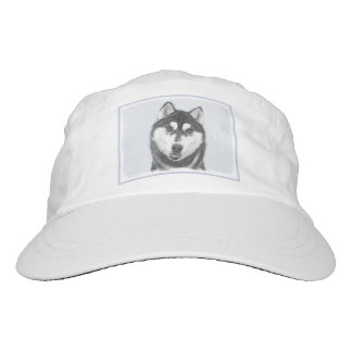 Siberian Husky (Black and White) Hat