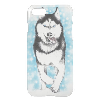 Siberian Husky Blue iPhone 7 Case
