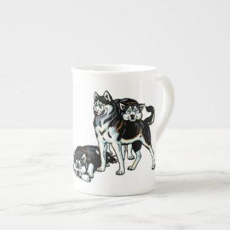 siberian husky bone china mug