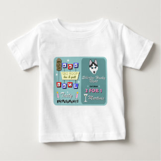 Siberian Husky Bowling Tiki Night T-shirt