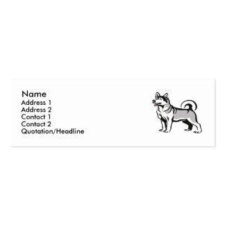 Siberian Husky Business Card Templates
