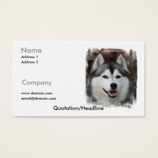 Siberian Husky Business Card