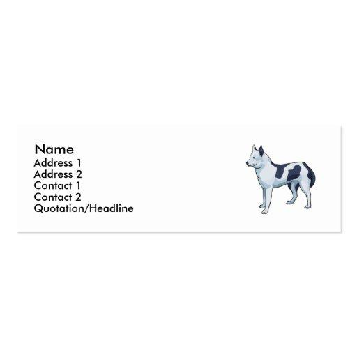 Siberian Husky Business Card Template
