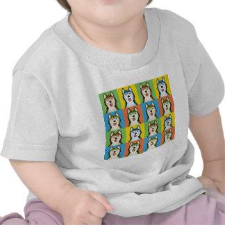 Siberian Husky Cartoon Pop-Art T-shirt