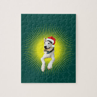 Siberian Husky Christmas Puzzle