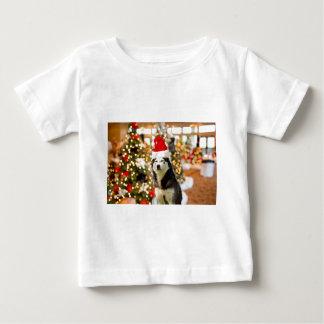 Siberian Husky Christmas Tree Tees Tshirt