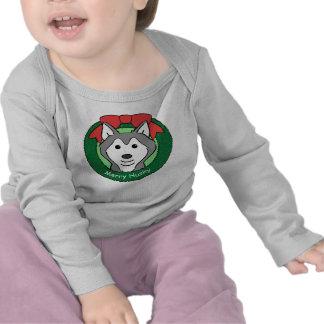 Siberian Husky Christmas Tshirt