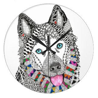 Siberian Husky Clock (You can Customize)