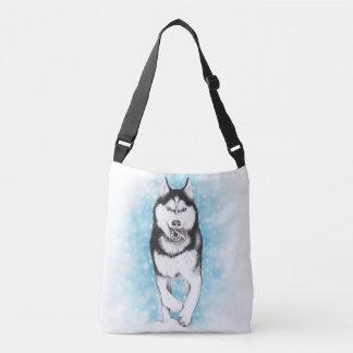 Siberian Husky Crossbody Bag