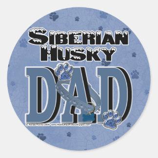 Siberian Husky DAD Round Sticker