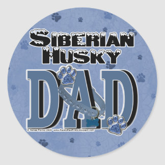 Siberian Husky DAD Classic Round Sticker