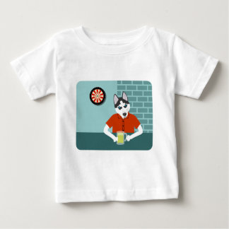 Siberian Husky Dartboard Beer Bar Baby T-Shirt