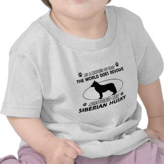 siberian husky designs shirts