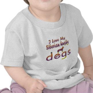 Siberian Husky designs Tshirts