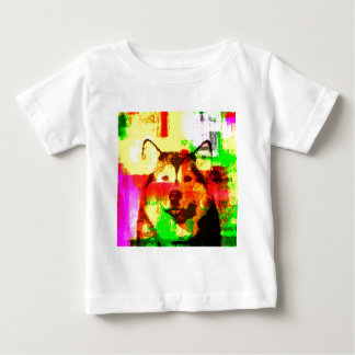 Siberian Husky Dog Art Baby T-Shirt