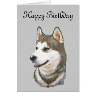 Siberian Husky Dog Art Card