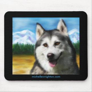 Siberian Husky Dog Art - Solar Mousepads