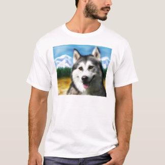 Siberian Husky Dog Art - Solar T-Shirt