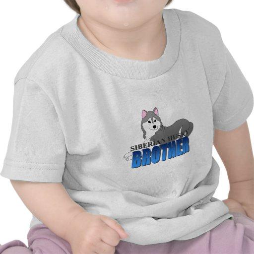 Siberian Husky Dog Brother T Shirts