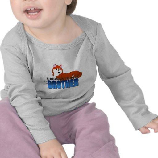 Siberian Husky Dog Brother Tee Shirts