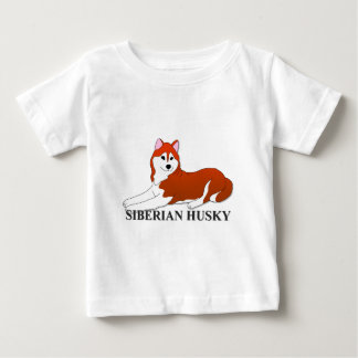 Siberian Husky Dog Cartoon Baby T-Shirt