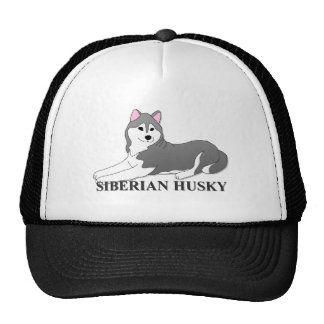 Siberian Husky Dog Cartoon Cap