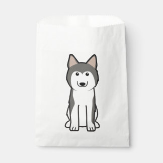 Siberian Husky Dog Cartoon Favour Bag