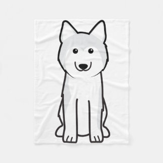 Siberian Husky Dog Cartoon Fleece Blanket