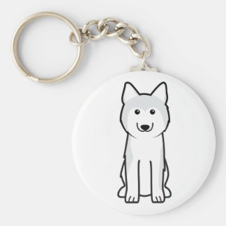 Siberian Husky Dog Cartoon Key Ring
