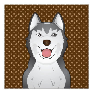 Siberian Husky Dog Cartoon Paws Photo