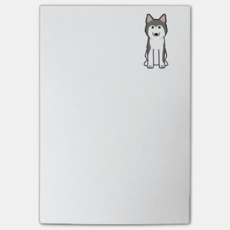 Siberian Husky Dog Cartoon Post-it Notes