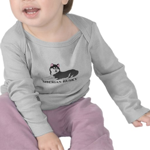 Siberian Husky Dog Cartoon Shirt