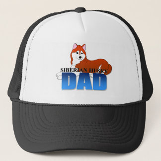 Siberian Husky Dog Dad Trucker Hat
